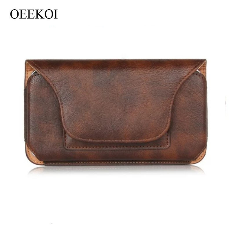 OEEKOI Rhino Pattern PU Leather Belt Clip Holster Pouch Case for <font><b>DNS</b></font> S5001/S5002/S5003/S5004/<font><b>S5008</b></font>/S5009 image