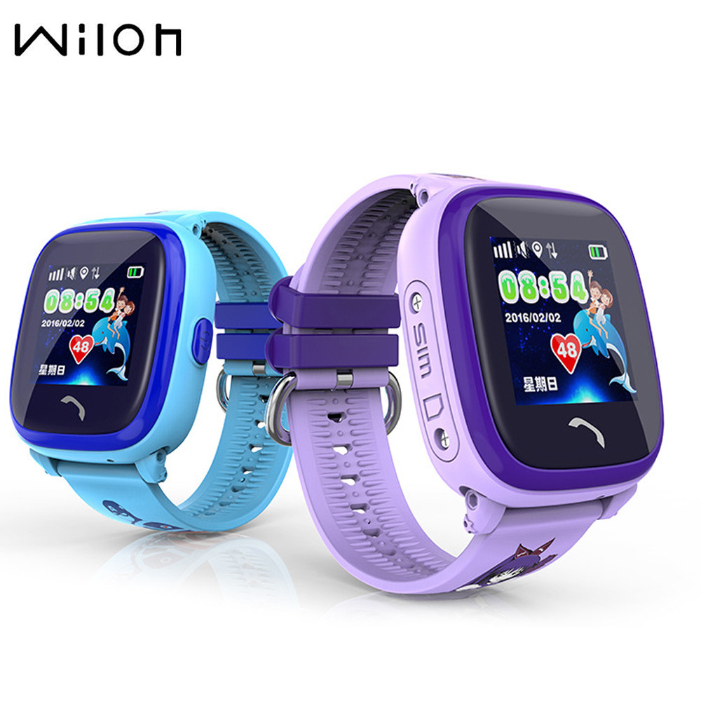 1PCS Waterproof GPS Tracker Watch For Kids Swim touch screen SOS Emergency Call Location smart watch DF25 Children's watch