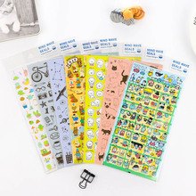 DIY Cute Kawaii Bronzing stickers cartoon cat dog Stickers For Home Decoration scrapbooking Free Shipping 3345