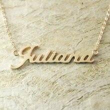 De encargo del oro collar nuevo de la llegada inicial nombre collar de la venta personalizada nombre joyería de moda collar de collar de mujer