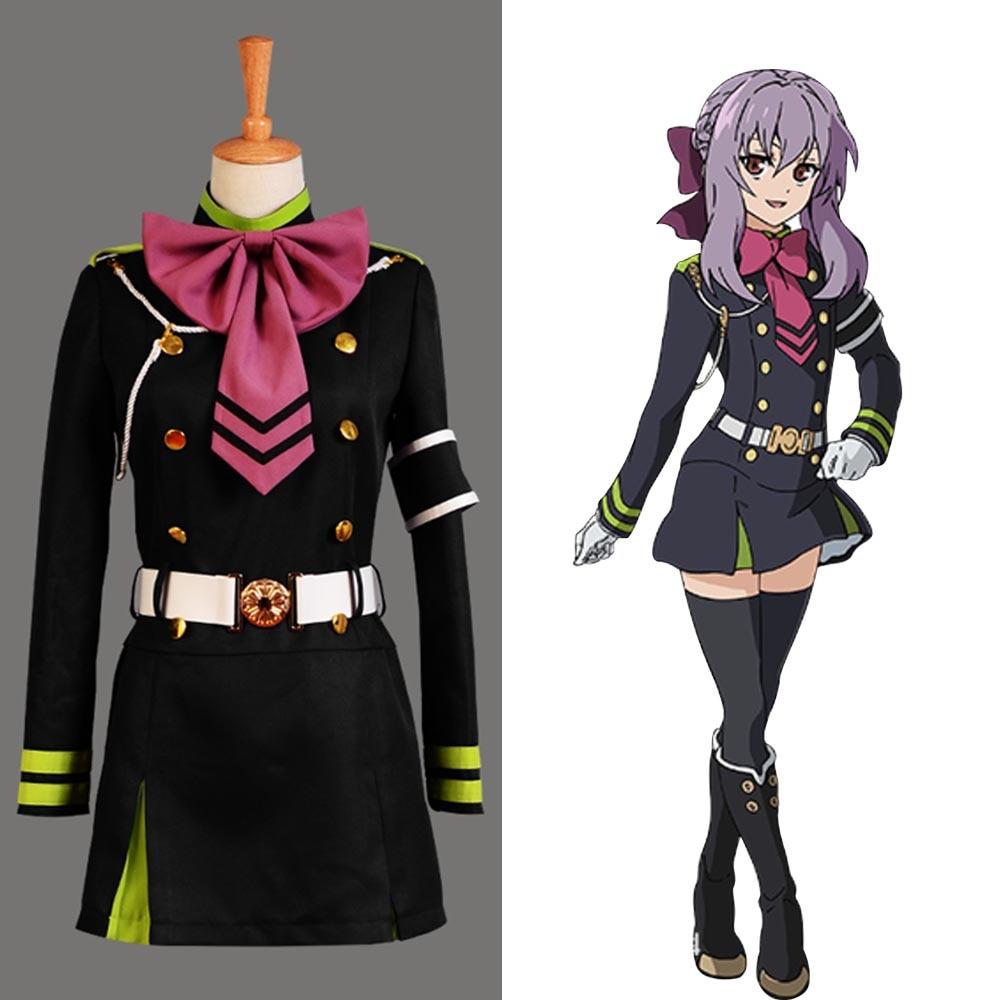 Seraph of the End Shinoa Hiragi Uniform Dress Cosplay Costume Full Set