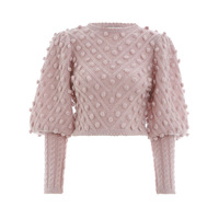 Cheap Price High Quality Elegant Women Casual Pink Pullovers Sweater Lanter Sleeve Knitted Fashion Short Sweaters