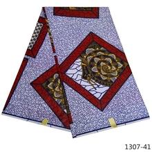 Ankara African Polyester Wax Prints Fabric Nigeria High Quality 6  yard for Party Dress 1307-4