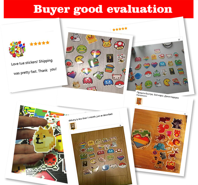 25Pcs animals lover Stickers Mixed Funny Cartoon  Mosaic Pixels Decals Luggage Laptop Car Styling Skateboad  DIY Sticker