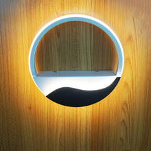 Creative modern fashion led wall light round 19w led lamp bedside living room background aisle corridor stair light sconce bra modern rotary bedroom living room aisle hotel corridor wall lamp round led light bra bedside wall light lampara 10w wall sconce