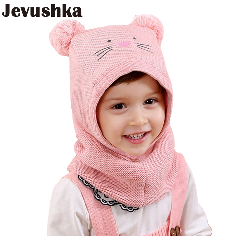 5e7d73b360b49 Detail Feedback Questions about Winter Children Hat Knitted Baby Girls and  Boys Pompom Hat with Warm Fleece Lining Cute Bear Ears Hats for Kids Beanie  HT006 ...