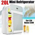 20л автомобильный мини-холодильник одноядерный двухъядерный цифровой дисплей для кемпинга домашнего общежития двухканальный холодильник ...