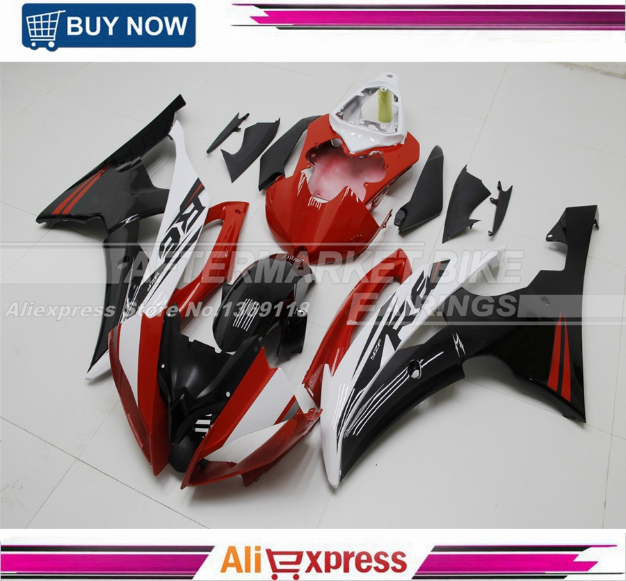Customized Decals ABS Plastic Injection YZF R6 2008-2014 Fairing Bodywork For Yamaha YZFR6 08-14 Easy Fitment hot sales yzf600 r6 08 14 set for yamaha r6 fairing kit 2008 2014 red and white bodywork fairings injection molding