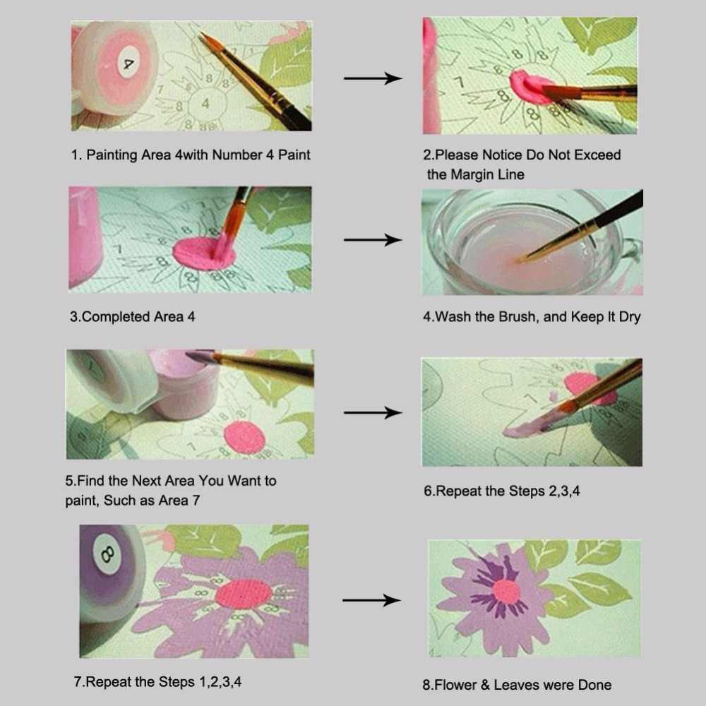 diy paintings paints by numbers with acrylic kits animals fish pictures colorings    frame 40x50 for wall decor