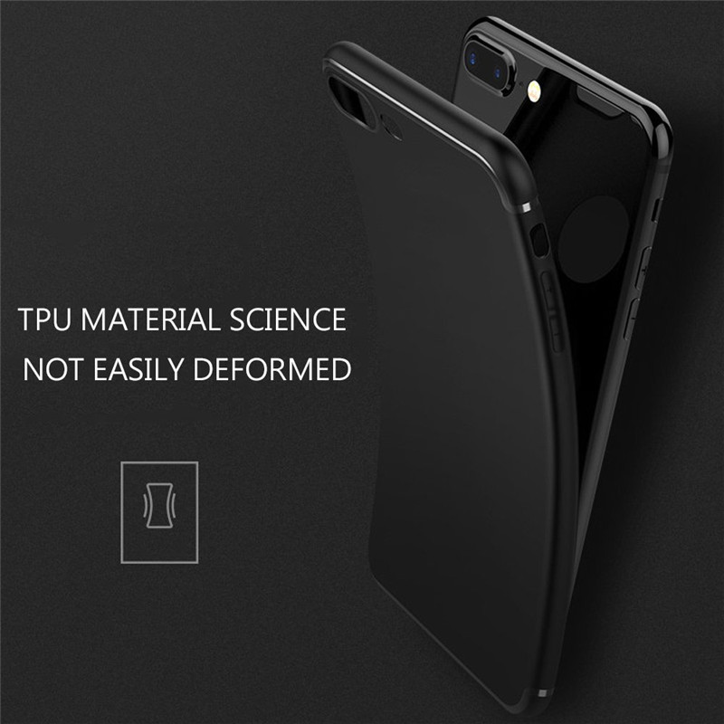 Luxury Back Soft Matte Silicon Cute Case for iPhone 7 Cases 6s Plus 5 5s SE 6 X Case Full Cover For iPhone 6s 7 Plus Phone Cases