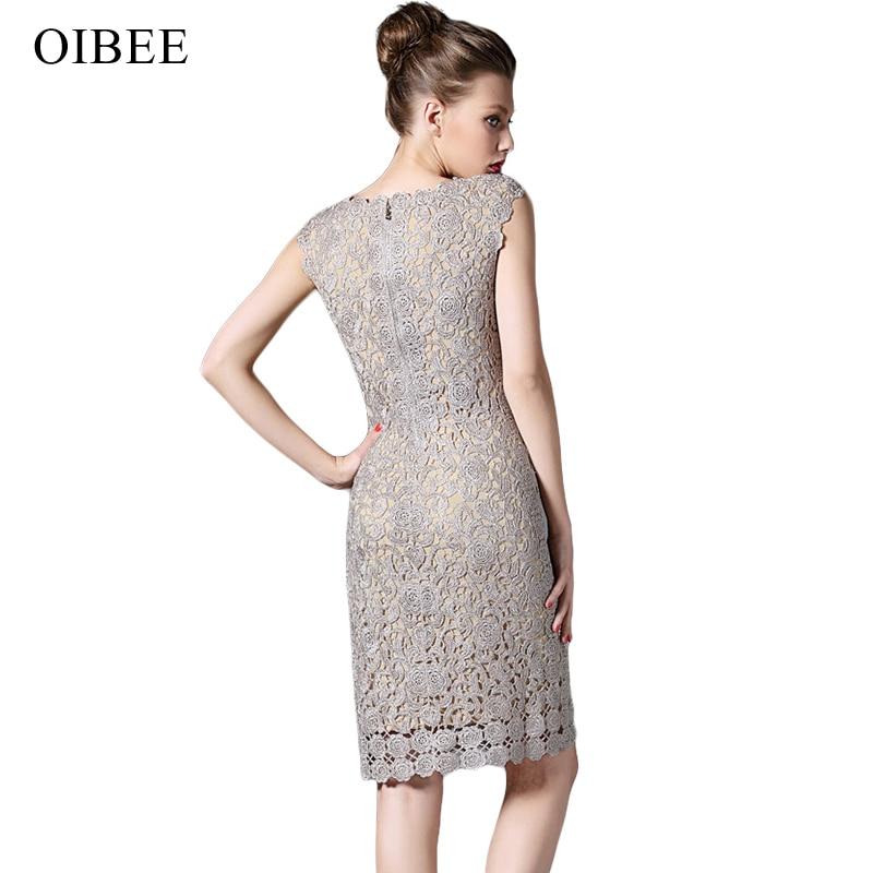 OIBEE Renda Menyulam Vintage Tanpa Lengan Musim Semi Musim Panas - Pakaian Wanita - Foto 3