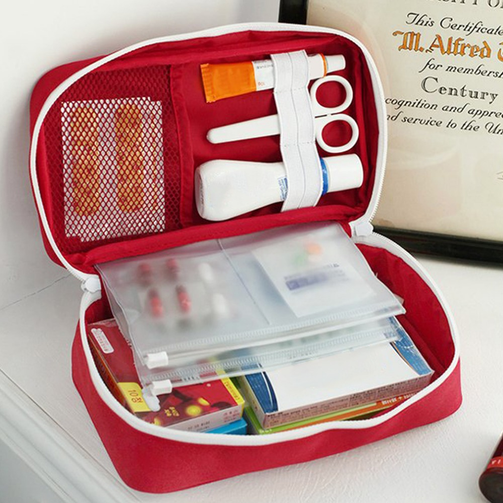 2017 New Emergency survival bag Mini Family First Aid Kit Sport Travel kits Home Medical Bag Outdoor Car First Aid Bag 1 set outdoor emergency equipment sos kit first aid box supplies field self help box for camping travel survival gear tool kits