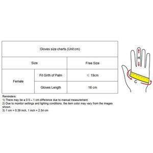 Image 5 - Guantes de ante de estilo corto para mujer, de 16cm mate guantes de piel de ante, manoplas de cuero de simulación para fiesta de baile, JP16
