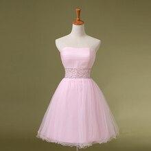 Echt Gemacht Rosa Homecoming Kleider Einfache Liebsten mit Perlen Cocktail Party Kleid Vestido Longos Günstige Mädchen Kleider