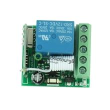 Módulo de relé inalámbrico RF, interruptor de control remoto de cc 12 V a 1 canal 433 mHz, control receptor, placa Lehr, MCU, RF, freque