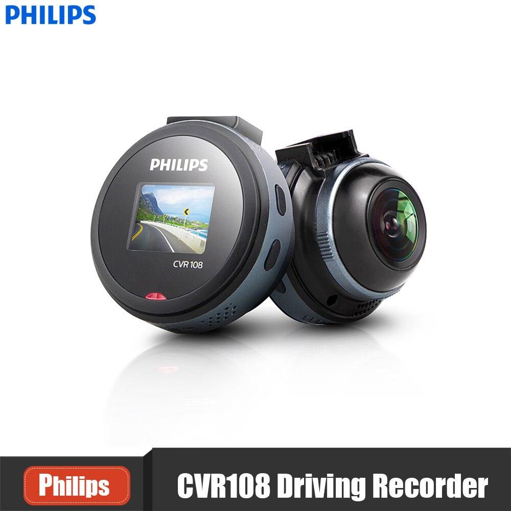 PHILIPS CVR108 1 Pollice Mini Car Hidden Dash Cam 1080 P 130 Grandangolare DVR Supporto Parcheggio Monitor G-Sensor WDR Guida registratore