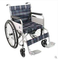 High Quality Mobile Toilet Seat Light Folding Wheelchair Walker Folding Aluminum Alloy Barrier Wheelchair Old Cart