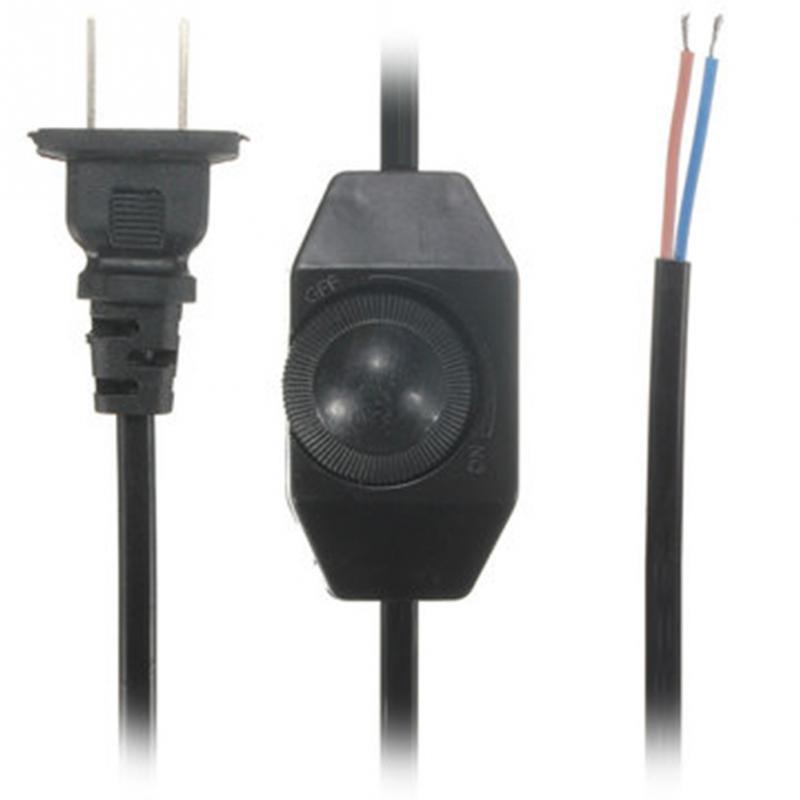 1.8M White Black No Polarity AWG Switch Dimming Cable Light ...