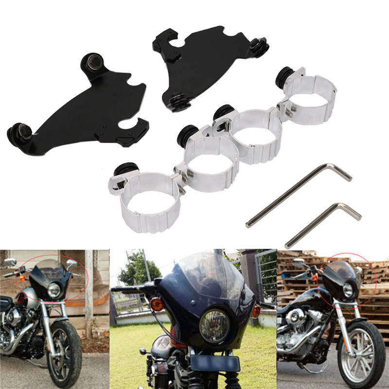 New 49MM Memphis Gauntlet Headlight Fairing Black Trigger Lock Mount Kit For Harley Dyna Street Sportster Ornamental Molding C/5 628 full ceramic bearing 1 pc 8 24 8 mm zro2 material 628ce all zirconia ceramic ball bearings