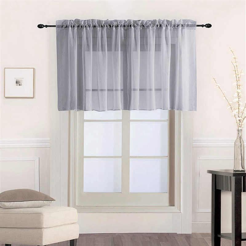 窓ボイルドレープローマチュールキッチン純色シンプルなシアーショートカーテンバランスため出窓ドア装飾 184 & 30