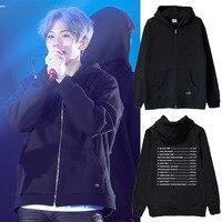 kpop exo hoodies Four concert tour The Elyxion Zipper sweatshirt coat k pop exo tops men women harajuku Autumn Winter garment
