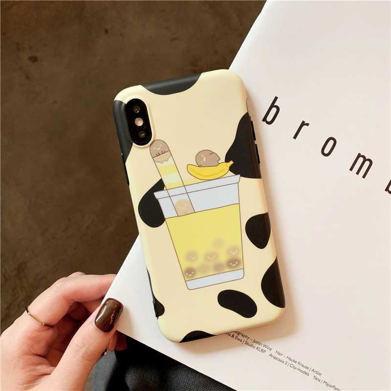 cacc22fe53 ... ShinyBean Bubble Tea Cute Phone Case For iPhone 6 6s 7 8 Plus Soft  Silicon Cover ...