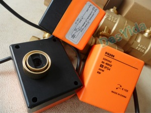 "Image 4 - Válvula de esfera de bronze motorizada, atuador elétrico, ac220v, dn15 (g1/2 "") para dn50 (g2"") válvula de interruptor de controle automático, 2 vias, 3 fios"
