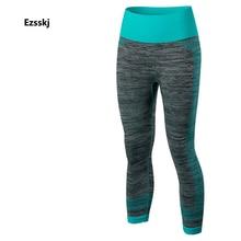 New Women Ladies Pro Gym Running Fitness Sport Yoga Leggings Sportwear Training Skinny Quick-Dry Perspiration Slim 3/4 Pants