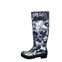 Fashion hand-painted boots boots high water shoes female adult galoshes rubber shoes melting in the spring and autumn waterproof