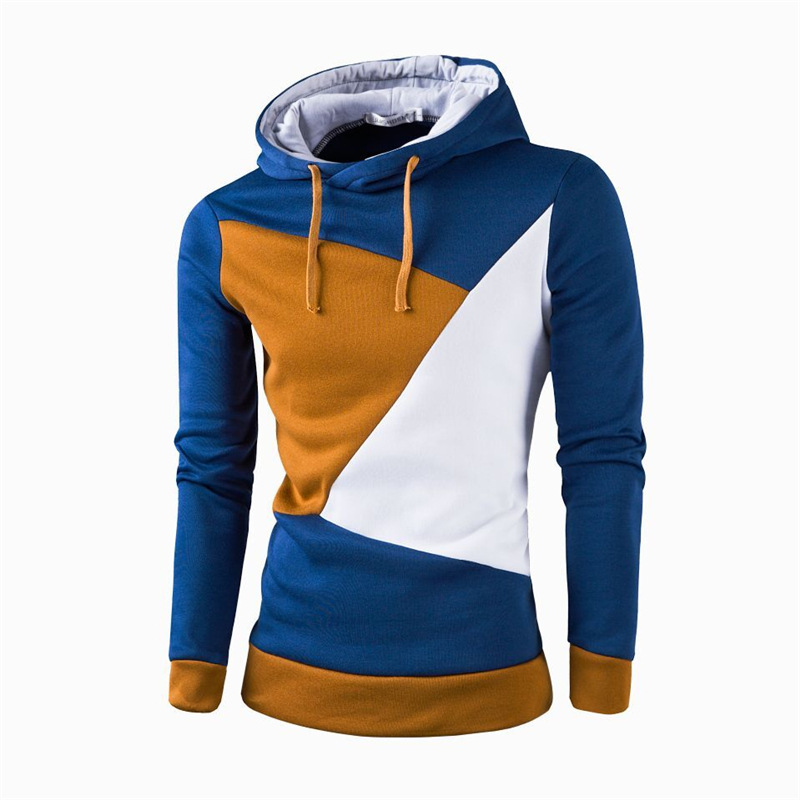2016 Hot Sale(Top sale)men hoddies joining together colours & Add wool upset Sweatshirts plus size M-3XL