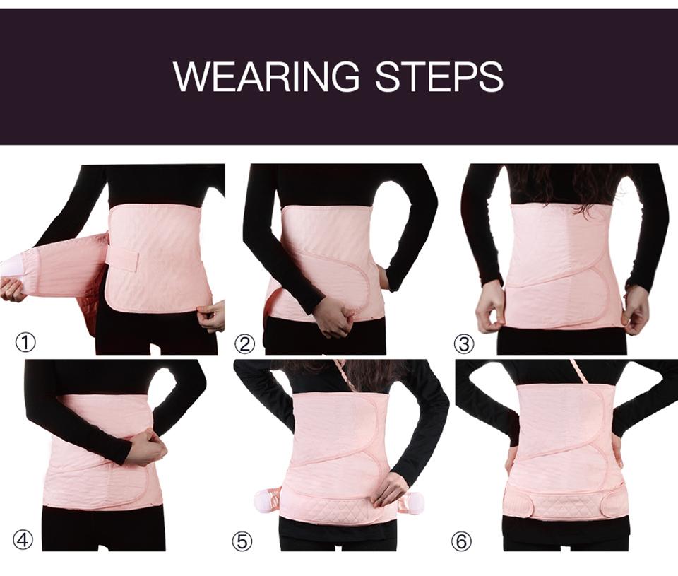 how long should i wear maternity belt after delivery
