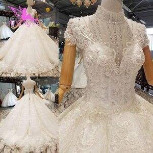 Image 4 - AIJINGYU נישואי שמלת באינטרנט גבוהה רחוב שמלות ללבוש מצרים אירוסין לבן כלה תורכי מקרית שמלות חתונה מלכותית שמלה