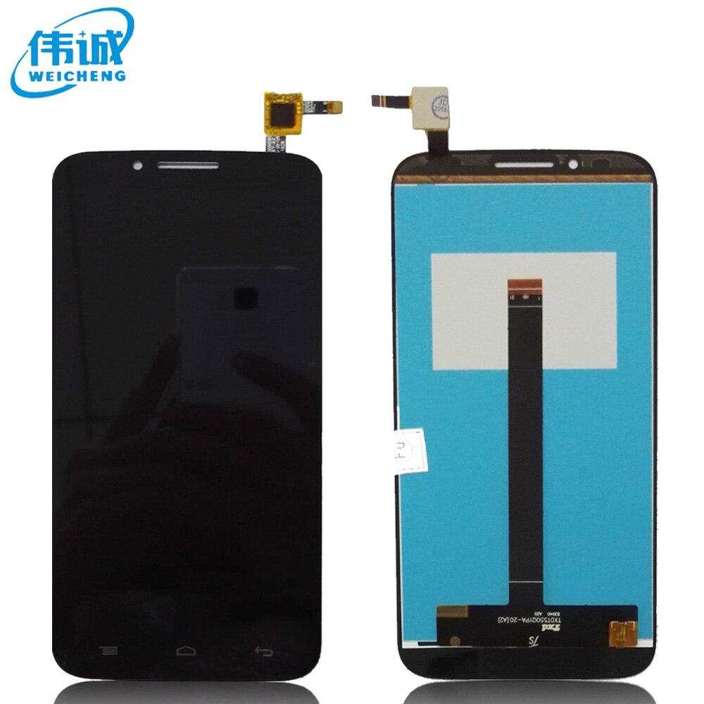 imágenes para Para Alcatel One touch Flash Plus 7054 T OT-7054T LCD Display + Touch Screen Reemplazo Asamblea Del Digitizador Original de la Pantalla + herramientas