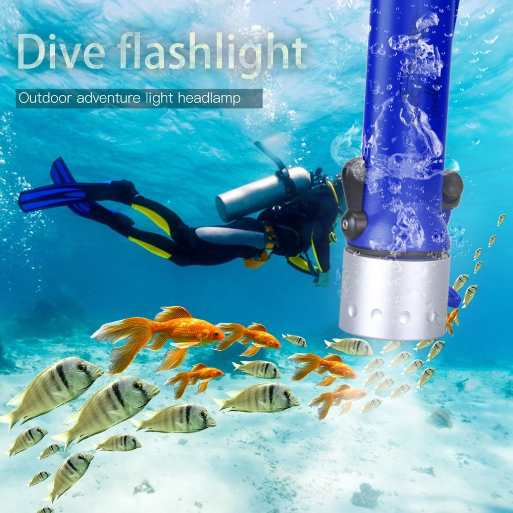 Diving Torch LED Outdoor Diving Flashlight Waterproof Underwater Sealed Insulated Glare Lighting 3W 50 Meter Lamp for camping pro 4 led flashlight waterproof photography light torch portable underwater flashlight for outdoor diving camping