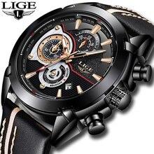 2018 LIGE Hot Luxury Brand Quartz Watch Men Casual Leather Business Watches Clock Man Relogio Masculino Zegarek Meski Gift 9863
