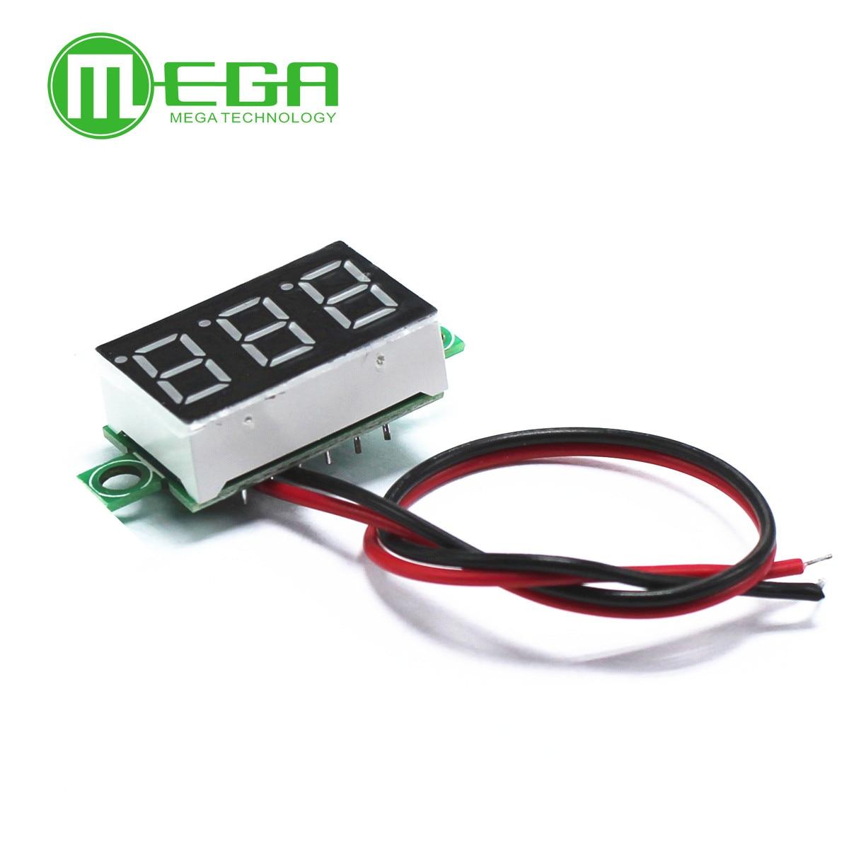 0.36 Inch Green Second Line Precision Dc Digital Voltmeter Head LED Digital Voltmeter DC4.5V30V