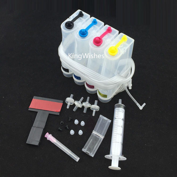 4 Color Universal DIY CISS Kit Without Ink For Canon HP Epson Brother With Basic Accessories