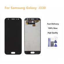 For Samsung Galaxy J3 2017 LCD J330 J330F J330G Display Touch Screen Digitizer Black Color +Tools