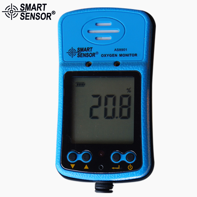Portable Riot control oxygen gas analyzer O2 AS8901 concentration content measuring instrument detector tester (2)