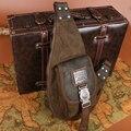 Bolsa de lona Retro de alta calidad de lona del hombro desequilibrio Pecho paquete de Mensajero bolsa de viaje pequeña bolsa de hombro