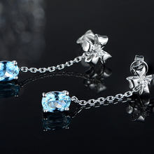 Korean Female Zircon Bow Earrings Plated With White Gold Color Imitation Natural
