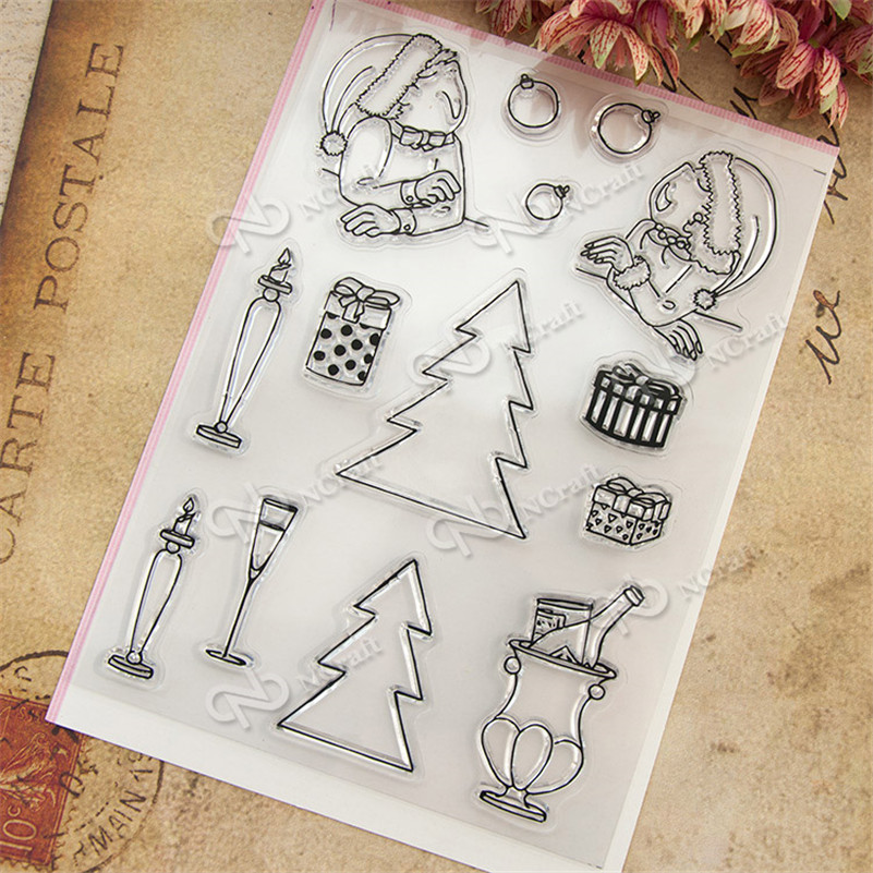 holiday gift and candle Transparent Clear Silicone Stamps for DIY Scrapbooking Kids Christmas for Fun Decoration Supplies RM-232 mipow btl300 creative led light bluetooth aromatherapy flameless candle voice control lamp holiday party decoration gift