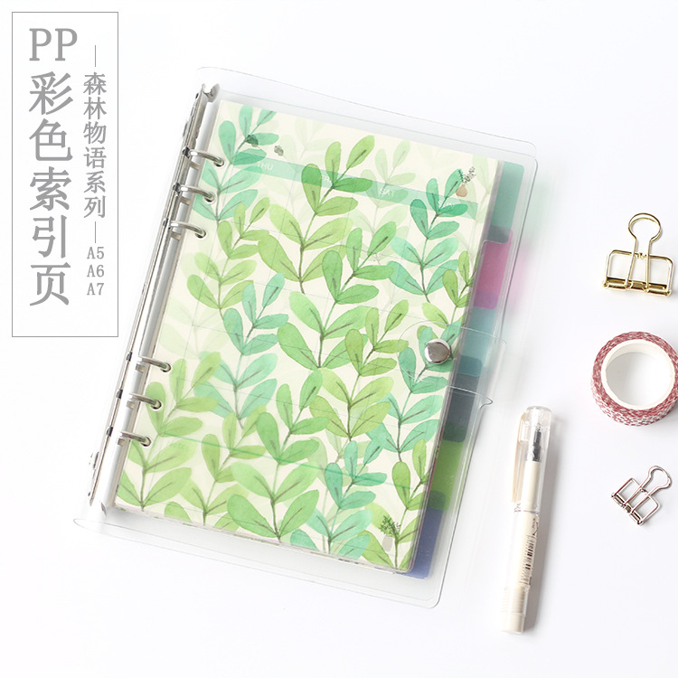 PP Material Dividers For Dokibook Notebook Candy Flower Index Paper Core For Agenda Planner Organizer Separator A5 A6 A7