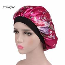 Helisopus, женская ночная Кепка, новинка, широкая лента, для выпадения волос, химиотерапия, зимние шапки, Удобная атласная шапочка, Женский тюрбан, кепка s