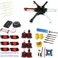 F550 Hexacopter Рамки w/APM2.6 управления полетом neo 7m GPS LHI 2212 920kv CW/CCW 30A Simonk бесщеточный ESC для F450 Quadcopter