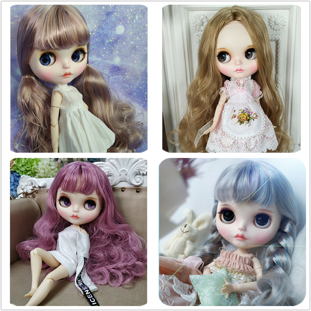 Blyth Doll 1 6 Joint Body hand painted frosted face white skin suit doll 30cm DIY