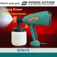 New 650w Electric Spray Gun Paint Spray Gun 800ml DIY 1.8mm electric spray gun HVLP sprayer Control Spray Power Paint Sprayers