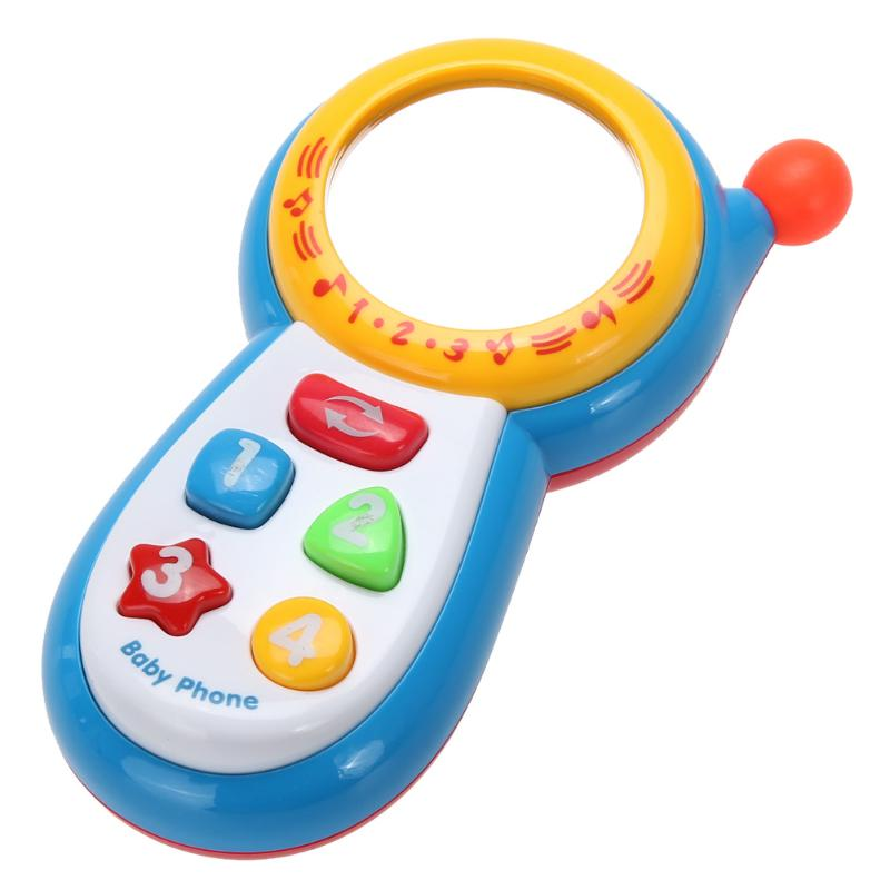 Baby Kids Learning Study Musical Sound Cell Phone Children Educational Toys mobile kids learning toy image