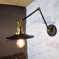 Adjustable Long Swing Arm Wall Light Fixture Edison Retro Vintage Wall Lamp Loft Style Industrial Wall Sconce Appliques bedroom