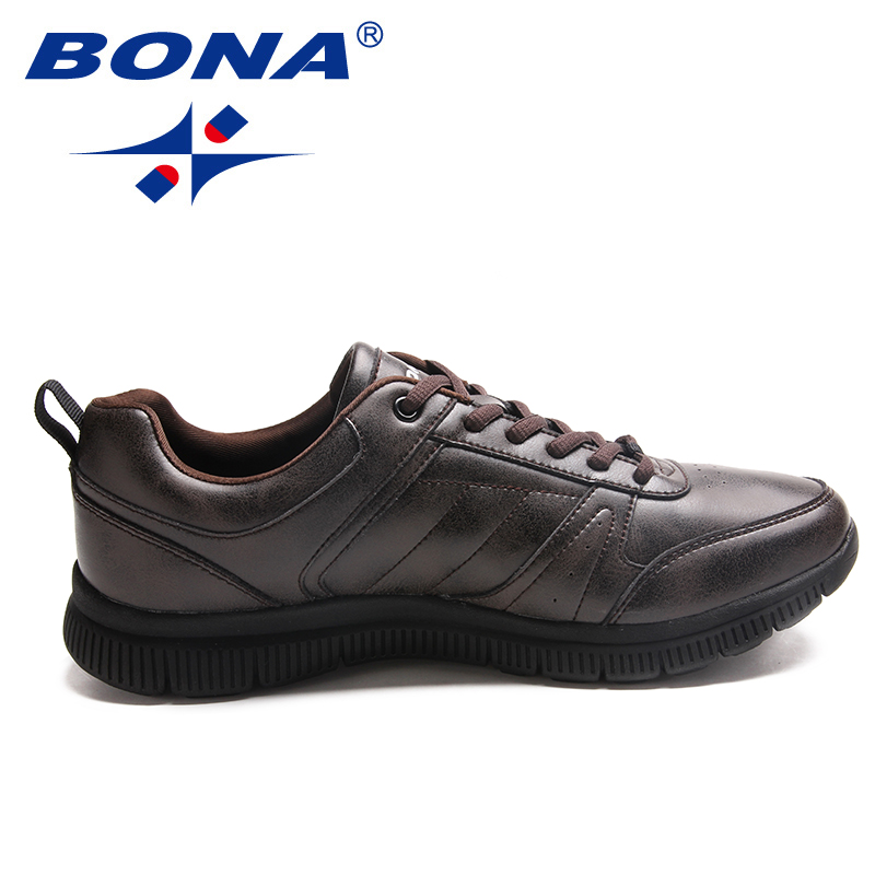 BONA New Arrival Popular Style Men Casual Shoes Lace Up Men Flats Microfiber Men Shoes Comfortable Light Soft Fast Free Shipping 4